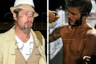 Brad Pitt sau David Beckham? Care e mai sexy cu barba?