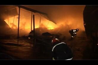 Panica in sectorul 2 al Bucuresti! Un imobil a fost cuprins de flacari