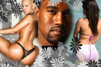 Kanye West are de ales intre 2 posterioare: Amber Rose sau Kim Kardashian