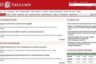 Ziarul Financiar lanseaza ZF Exclusiv: stiri, analize, comentarii