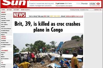 Un avion s-a prabusit din cauza unui crocodil in Congo! 20 de morti