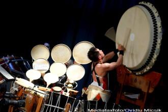 Concert de exceptie la Sibiu: tobele japoneze Taiko in duet cu o vioara
