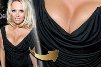 Pamela Anderson si-a tras push-up in decolteul generos