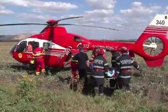 Un elicopter, trei ambulante si o masina de la descarcerare au intervenit la un accident teribil