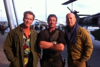 Poza zilei: cum arata la 60 de ani cei mai tari eroi de actiune Arnold, Stallone si Bruce Willis