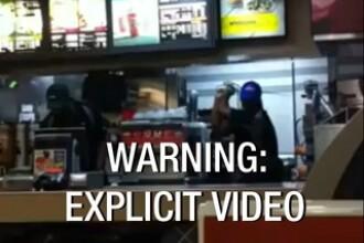 Imagini SOCANTE filmate la McDonalds. Ce au patit doua femei dupa ce i-au dat o palma casierului