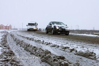 Prima zapada peste Romania. Cum a nins la munte si care sunt drumurile cu zapada