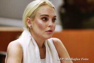 Lindsay Lohan, in catuse. FOTO. Vedeta nu a vrut sa munceasca la morga si a ajuns dupa gratii