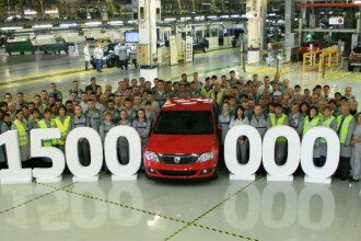 Dacia a ajuns la 1.500.000 de masini produse in ultimii 8 ani. 90% merg acum la export