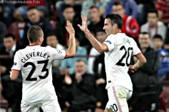 CFR Cluj a fost invinsa de Manchester United, scor 1-2, in grupa H a Ligii Campionilor