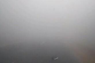 Avertizare de ceata in zece judete din vestul si centrul tarii. Vizibilitatea, redusa sub 200 de m