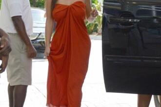 Poza pe care o asteptau toti barbatii. Kim Kardashian surprinsa fara sutien. FOTO