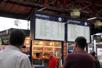 Blocaj total al traficului feroviar in Gara de Nord din Bucuresti. Circulatia trenurilor, oprita de o cadere de tensiune