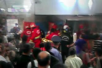 Tanara care s-a aruncat in fata metroului, in statia Dristor, a supravietuit impactului
