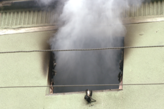Un bloc intreg a fost evacuat in urma unui incendiu pe strada Gheorghe Lazar din Timisoara.