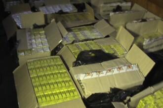 Peste 21.000 pachete cu tigari de contrabanda descoperite la frontiera cu Ucraina