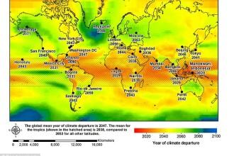 Harta oraselor lovite de o clima fara precedent. Ce zone ajung de nelocuit in urmatorii 50 de ani