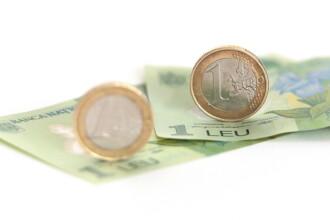 Cursul BNR a crescut usor, la 4,4537 lei/euro