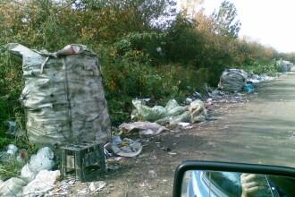 Razboiul gunoaielor intre primarii. In ce hal a ajuns sa arate un drum din Arad, in cateva luni.FOTO