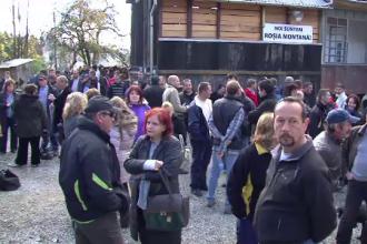 Rosia Montana: Cei 33 de mineri blocati in subteran in septembrie protesteaza din nou in mina