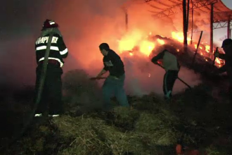Ucisi de foc. Doi copii si-au pierdut viata dupa ce casa in care locuiau a fost mistuita de foc