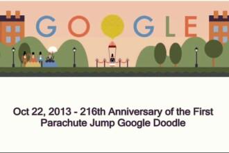André-Jacques Garnerin, autorul primului salt cu parasuta, este celebrat printr-un Google Doodle