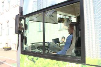 Autobuzul electric a iesit pe strazile Timisoarei. Cand intra pe traseu. GALERIE FOTO