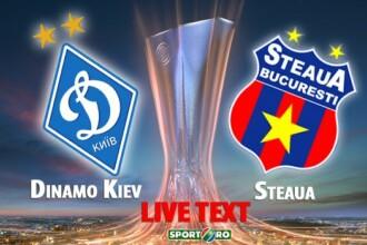 Grupele Europa League, Dinamo Kiev - Steaua 3-1. Vezi aici toate fazele meciului