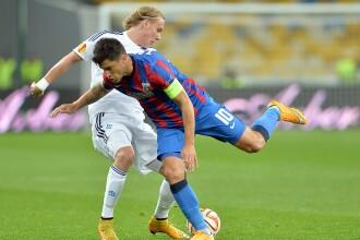 Grupele Europa League, Dinamo Kiev - Steaua 3-1. Raul Rusescu a marcat in prelungirile meciului