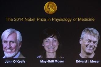 PREMIUL NOBEL pentru MEDICINA acordat in 2014 lui John O'Keefe, May-Britt si Edvard Moser pentru descoperirea GPS-ului intern