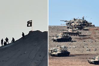 Statul Islamic a arborat steagul negru la 3 km de granita cu Turcia. Folosesc si munitie fabricata in Romania. VIDEO