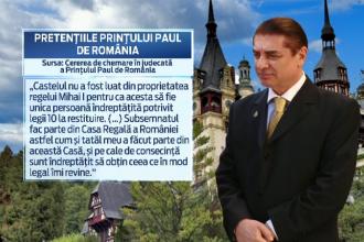 Printul Paul vrea sa ia de la Regele Mihai o parte din Palatul Peles. Miza este uriasa: valoarea totala depaseste 30 mil. EUR