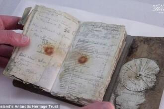 Jurnal de bord al unei expeditii istorice, gasit dupa 100 de ani. Ce informatii contine documentul descoperit in Antarctica