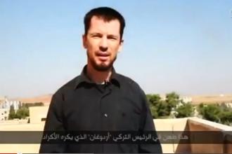 Oficialii americani: Inregistrarea video cu ostaticul John Cantlie la Kobane arata
