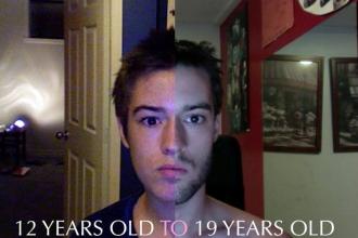 Un tanar si-a facut un selfie zilnic, timp de 8 ani. Cum s-a transformat chipul copilului de 12 ani: VIDEO