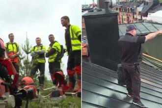 Romanii care muncesc printre reni sau pe acoperisurile din Stockholm.