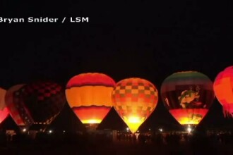 Imagini spectaculoase in SUA, cu ocazia sarbatorii internationale a baloanelor. Festivalul are o traditie de 44 de ani
