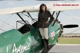 O aviatoare inconjoara lumea la bordul unui avion vechi de 70 de ani. Ce a patit cand a ajuns in Romania