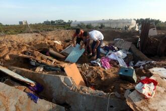Israelul loveste Hamas in Fasia Gaza si ucide o femeie palestiniana si un copil. Conflictul ar putea escalada la scara larga