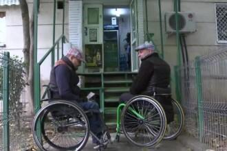 Romania paralela ce ramane inaccesibila propriilor cetateni. Cat de greu ajunge un om in carucior la o banca sau la un spital