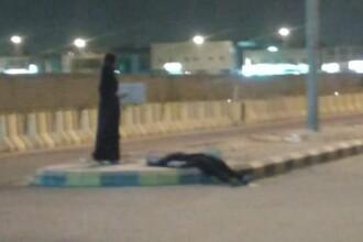 Saudita in haine traditionale, pozata beata, cazuta pe strada. Ce se intampla noaptea in tara in care alcoolul este interzis