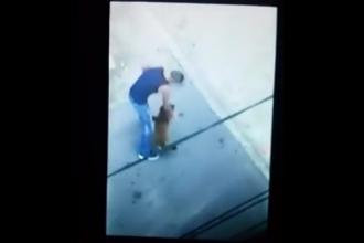 Imaginile care au starnit revolta pe internet. Caine batut cu salbaticie de un barbat, in Caras Severin. VIDEO