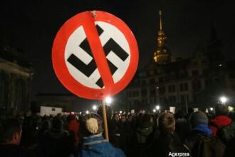 Protest fata de afluxul de refugiati, in Germania. 20.000 de simpatizanti ai miscarii populiste PEGIDA au iesit in strada