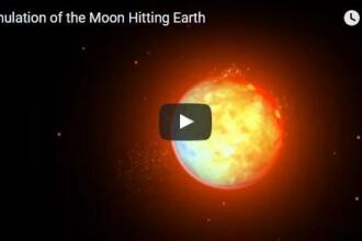 VIDEO Ce s-ar intampla daca Luna ar lovi Pamantul (simulare)