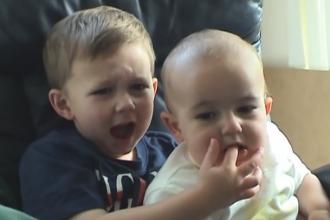 Cum arata fratii din celebrul video