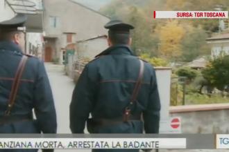 Romanca banuita ca a provocat moartea batranei de care avea grija, arestata in Italia