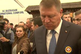 Reactia lui Klaus Iohannis dupa ce a gustat mere si mezeluri la cel mai mare targ de agricultura, deschis in Capitala