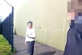 Scene tulburatoare cu o romanca victima unui atac rasist al unor copii, in Irlanda de Nord: