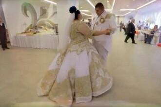Rochia ei de mireasa a costat mai mult decat un bolid. Suma care s-a cheltuit la o nunta de tigani e ametitoare VIDEO