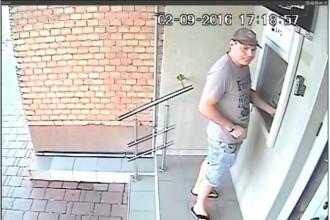 Metoda simpla prin care un barbat ar fi incercat sa fure bani din bancomat. Politia il cauta de o luna